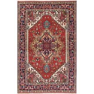 eCarpetGallery Serapi Heritage Brown Wool Hand-knotted Rug (4'11 x 7'9)