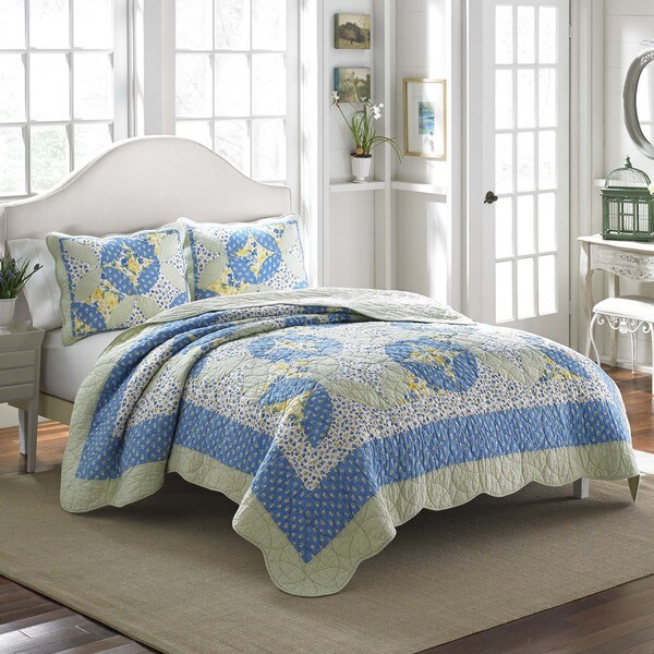 Laura Ashley Belle Cotton Quilt - On Sale - Free Shipping Today ... : quilt on bed - Adamdwight.com