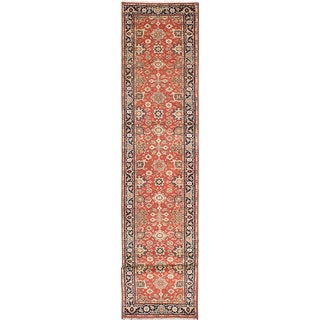 eCarpetGallery Serapi Heritage Brown Wool Hand-knotted Rug (2'8 x 15'10)