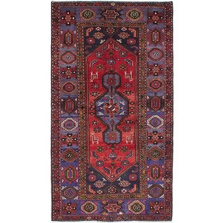 eCarpetGallery Touserkan Red Wool Hand-knotted Rug (4'6 x 8'2)