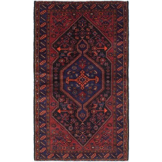 eCarpetGallery Touserkan Blue Wool and Cotton Hand-Knotted Rug (4'9 x 7'10)