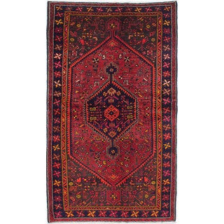 eCarpetGallery Zanjan Red Wool Hand-knotted Rug (4'11 x 8'4)