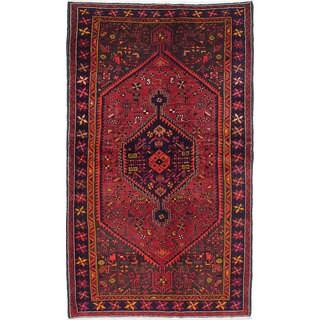 eCarpetGallery Zanjan Red Wool Hand-knotted Rug (4'11 x 8'4)