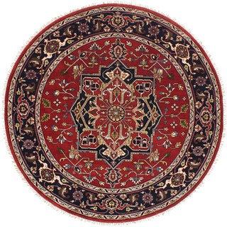 eCarpetGallery Serapi Heritage Red Wool Hand-knotted Rug (7'11 x 7'11)