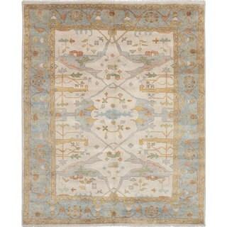 eCarpetGallery Royal Ushak Ivory Hand-knotted Wool Rug (8'1 x 9'11)