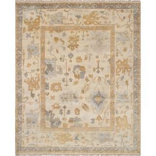 eCarpetGallery Royal Ushak Ivory Wool Hand-knotted Rug (8'2 x 10'0)