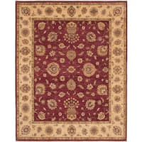 eCarpetGallery Chobi Twisted Red Wool Hand-knotted Rug - 8'2 x 10'2