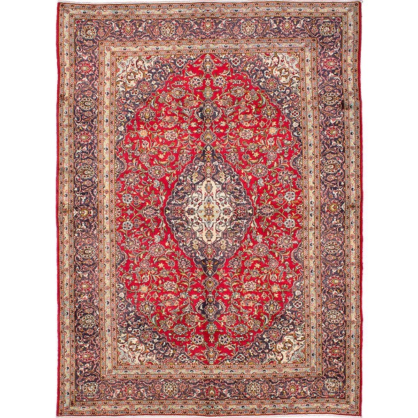 Shop Ecarpetgallery Hand Knotted Persian Kashan Red Wool: Shop ECarpetGallery Kashan Red Wool Hand-knotted Rug (9'8