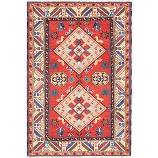 eCarpetGallery Hand-knotted Royal Kazak Brown Wool Rug (3'11 x 5'11)