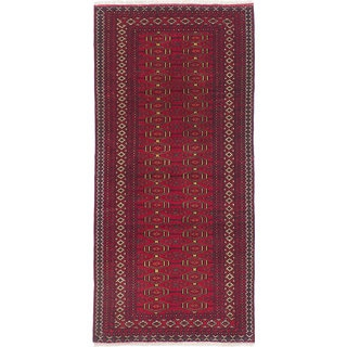 eCarpetGallery Finest Rizbaft Red Wool Hand-knotted Rug (2'8 x 5'10)