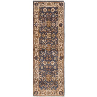 eCarpetGallery Royal Ushak Grey Wool Hand-knotted Rug (2'7 x 7'11)