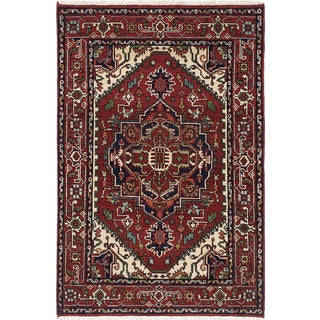 eCarpetGallery Serapi Heritage Red Wool Hand-knotted Rug (4' x 5'11)