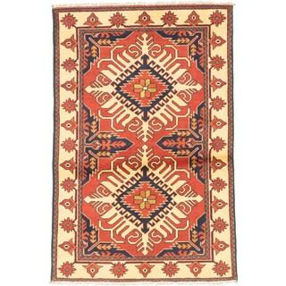 eCarpetGallery Kargahi Brown Wool Hand-knotted Rug (3'3 x 4'11)