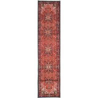 eCarpetGallery Royal Heriz Brown Wool Hand-knotted Rug (2'6 x 16'1)