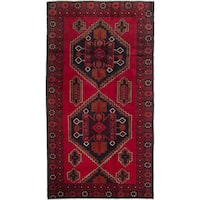 eCarpetGallery Rizbaft Red Wool Hand-knotted Finest Rug - 3'6 x 6'6