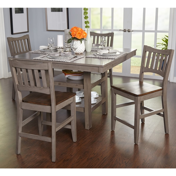 Simple Living Simon Counter Height 5 Piece Dining Set