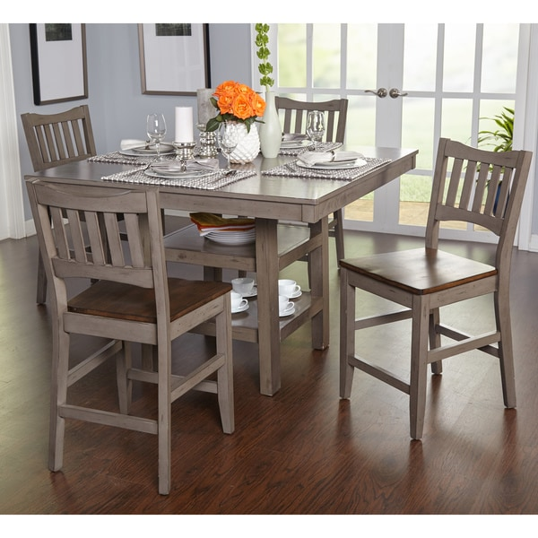 Simple living simon counter height 5 piece dining set for 5 piece living room table set