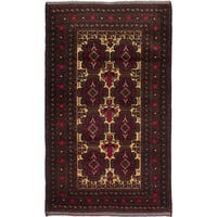 eCarpetGallery Hand-knotted Finest Rizbaft Blue/Brown Wool Oriental Area Rug (3'10 x 6'8)