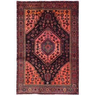 eCarpetGallery Oriental Nahavand Blue/Brown Wool Hand-knotted Area Rug (4'4 x 6'7)