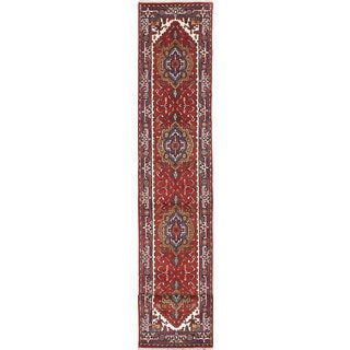 eCarpetGallery Serapi Heritage Red Wool Hand-knotted Rug (2'5 x 15'9)