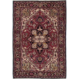 eCarpetGallery Royal Heriz Red Wool Hand-knotted Oriental Area Rug (6' x 8'9)