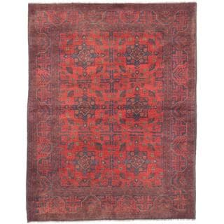ecarpetgallery Hand-Knotted Finest Khal Mohammadi Red Wool Rug (5'0 x 6'4)
