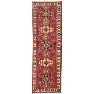 eCarpetGallery Hand-knotted Finest Kargahi Red Wool Runner (3'0 x 9'2)