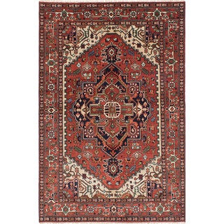 eCarpetGallery Serapi Heritage Red Wool Hand-knotted Rug (6'1 x 9'1)