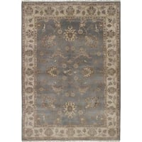eCarpetGallery Royal Ushak Grey/Ivory Wool Hand-knotted Oriental Area Rug (6'3 x 8'10)