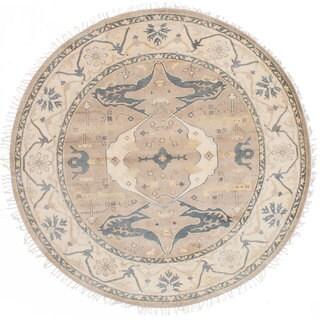 eCarpetGallery Royal Ushak Ivory Wool Hand-knotted Rug (7'10 x 7'10)