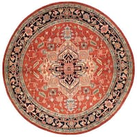 eCarpetGallery Serapi Heritage Red Wool Hand-knotted Rug (8'2 x 8'2) - 8'2 x 8'2