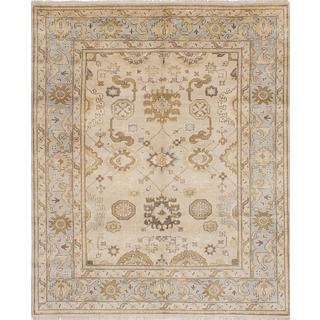 eCarpetGallery Royal Ushak Ivory Wool and Cotton Hand-knotted Rug (8'1 x 9'10)