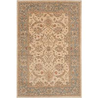 eCarpetGallery Oriental Peshawar Oushak Ivory Wool and Cotton Hand-knotted Area Rug (6' x 8'7)