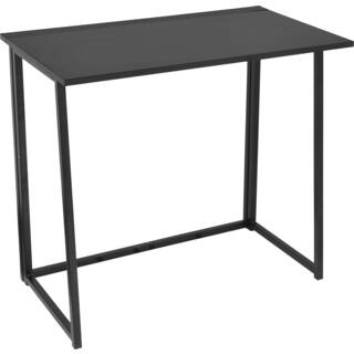Urban Black Wood And Metal Writing Desk