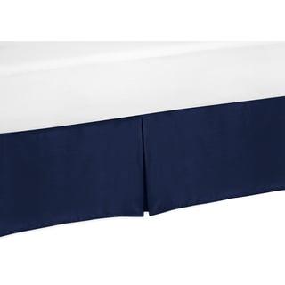 Sweet Jojo Designs Solid Navy Blue Twin-size Bedskirt