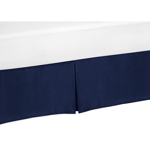 Sweet Jojo Designs Solid Navy Blue Twin-size Bedskirt