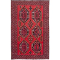 eCarpetGallery Finest Rizbaft Red Wool Hand-knotted Rug (6'9 x 10'6)