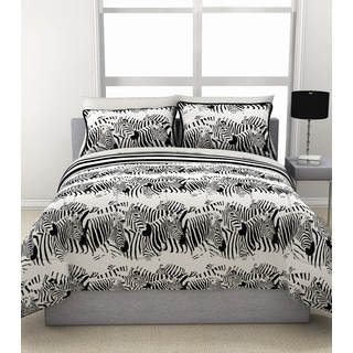 Zebra Stampede Reversible Comforter and Sheet Set