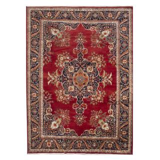 Hand-knotted Serapi Heritage Red Wool Rug - 9'11 x 13'11