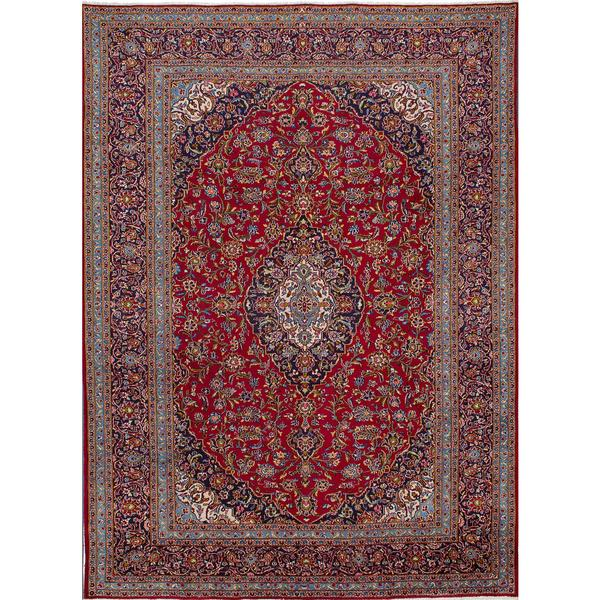 Shop Ecarpetgallery Hand Knotted Persian Kashan Red Wool: Shop ECarpetGallery Kashan Red Hand-knotted Wool Rug (9'3