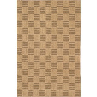 eCarpetGallery Impressions Green/Yellow Jute Handmade Braided Rug (5'0 x 7'8)