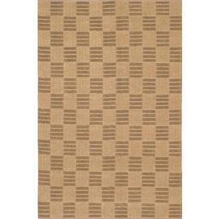 eCarpetGallery Impressions Green/Yellow Jute Handmade Braided Rug - 5'0 x 7'8