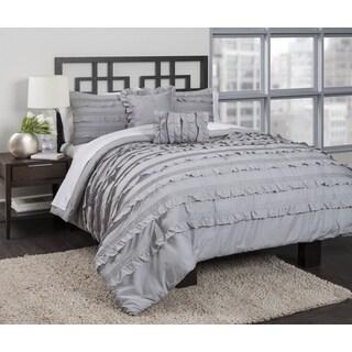 Pintucked Ruffles 4-piece Comforter Set