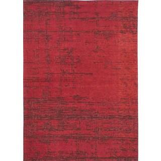 eCarpetGallery Enchanted Red Viscose and Cotton Handmade Area Rug (5'4 x 7'6)