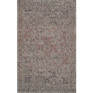 eCarpetGallery Elina Handmade Grey Wool Rug (5'0 x 8'0)