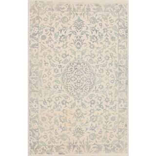 eCarpetGallery Elina Ivory Wool and Cotton Handmade Area Rug (5' x 8')
