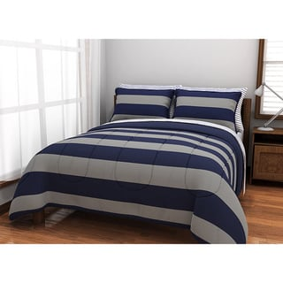 Rugby Blue 7-piece Comforter and Sheet Set