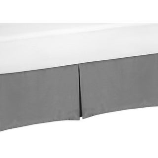 Sweet Jojo Designs Solid Grey Twin-size Bedskirt
