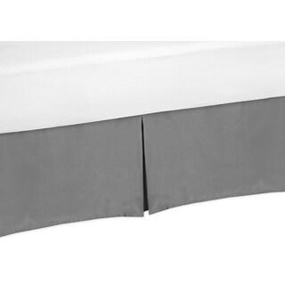 Sweet Jojo Designs Solid Grey Twin-size Bedskirt