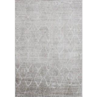 eCarpetGallery Moda Grey Viscose Rug (5'3 x 7'7)